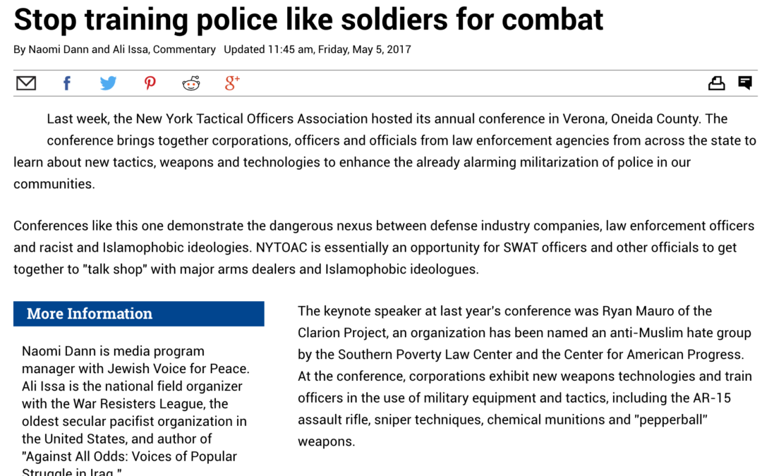 Stop training police like soldiers for combat
